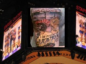 Lakers Tattoo On Jumbotrom At Staples Center
