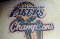 Nick Avol Lakers Tattoo Thumb